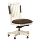 Aspenhome Cottonwood Executive Office Chair in Linen White I67-366