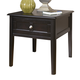 Henning Rectangular End Table in Almost Black