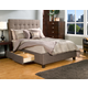 Seahawk Designs Manhattan Four-Drawer Queen Bed in Charcoal Brown 61603