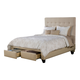 Seahawk Designs Manhattan Two-Drawer Queen Bed in Wheat 62503