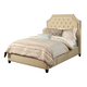 Seahawk Designs Audrey Four-Drawer Queen Bed in Wheat 72603