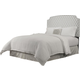 Republic Grosvenor Upholstered Queen-Full Headboard in Grey Diamond 10132