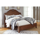 Balinder Queen Sleigh Bed in Medium Brown B708-QS