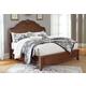 Balinder King Sleigh Bed in Medium Brown B708-KS