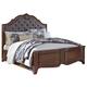 Balinder Queen Panel Bed in Medium Brown B708-Q