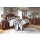 Balinder 4-Piece Sleigh Bedroom Set in Medium Brown