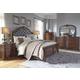 Balinder 4-Piece Panel Bedroom Set in Medium Brown