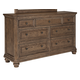 Maeleen 7 Drawer Dresser in Medium Brown B709-31