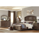 Maeleen 4-Piece Panel Bedroom Set in Medium Brown
