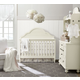 Legacy Classic Kids Inspirations Grow With Me Convertible Crib Bedroom Set in Seashell White