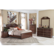 Naralyn 5-Piece Panel Bedroom Set in Reddish Brown