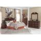 Naralyn 5-Piece Panel Headboard Bedroom Set in Reddish Brown