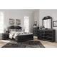 Navoni 5-Piece Panel Bedroom Set in Black