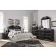 Navoni 5-Piece Panel Headboard Bedroom Set in Black