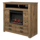 Cinrey Media Chest w/Fireplace Option in Medium Brown B369-49