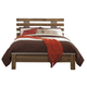 Cinrey King Panel Bed in Medium Brown