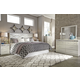 Dreamur 4-Piece Panel Headboard Bedroom Set in Champagne