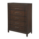 Timbol Five Drawer Chest in Warm Brown B508-46