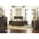 Timbol 4-Piece Panel Bedroom Set in Warm Brown