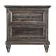 Magnussen Calistoga 2 Drawer Nightstand in Weathered Charcoal B2590-01