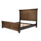 A-America Furniture Gallatin Queen Panel Bed in Timeworn Mahogany GLNTM5030