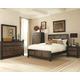 Coaster Segundo 4-Piece Panel Bedroom Set in Antique Oak Embossed