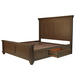 A-America Furniture Gallatin Queen Panel with Storage Bed in Timeworn Mahogany GLNTM5031
