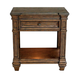A-America Furniture Gallatin 1 Drawer Bedside Table in Timeworn Mahogany GLNTM5760