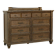 A-America Furniture Gallatin 8 Drawer Dresser in Timeworn Mahogany GLNTM5500