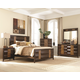 Coaster Dublin 4-Piece Panel Bedroom Set in Two Tone Wood