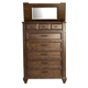 A-America Furniture Gallatin 6 Drawer Tall Chest in Timeworn Mahogany GLNTM5600