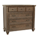 A-America Furniture Gallatin Media Chest in Timeworn Mahogany GLNTM5740