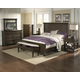 A-America Furniture Gallatin 4-Piece Panel Bedroom Set in Timeworn Mahogany