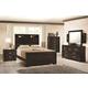 Coaster Solano 4-Piece Panel Bedroom Set in Cappuccino