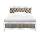 Magnussen Monroe California King Panel Bed in Pearlizzed White B2935-64CK