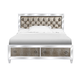 Magnussen Monroe California King Panel with Storage Bed in Pearlizzed White B2935-64CKSR