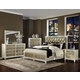 Magnussen Monroe 4-Piece Panel with Storage Bedroom Set in Pearlizzed White