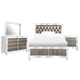 Magnussen Monroe 4-Piece Panel Bedroom Set in Pearlizzed White