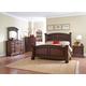 Coaster Savannah 4-Piece Panel Bedroom Set in Burnished Cognac