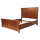 A-America Furniture Grant Park Queen Panel Bed in Pecan GPKPE5030