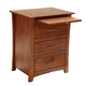 A-America Furniture Grant Park 3 Drawer Nightstand in Pecan GPKPE5750