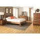 Coaster Peyton 4-Piece Panel Bedroom Set in Natural Brown