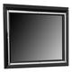 Coaster Zimmer Mirror in Black 203724