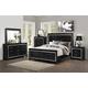 Coaster Zimmer 4-Piece Panel Bedroom Set in Black
