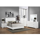 Coaster Felicity 5-Piece Panel Bedroom Set in Glossy White