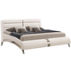 Coaster Felicity Queen Panel Bed with Metallic Legs in Glossy White 300345Q