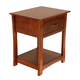 A-America Furniture Grant Park 1 Drawer Nightstand in Pecan GPKPE5760