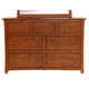 A-America Furniture Grant Park 7 Drawer Dresser in Pecan GPKPE5500