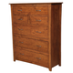 A-America Furniture Grant Park 6 Drawer Chest in Pecan GPKPE5600