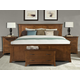 A-America Furniture Grant Park 4-Piece Panel Bedroom Set in Pecan